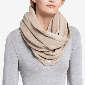 Calvin Klein tan infinity scarf